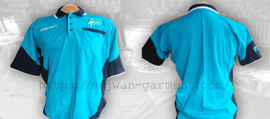 Desain Kaos Poloshirt PDAM Sikka